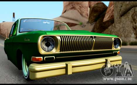 GAZ 24 Volga pour GTA San Andreas sur la vue arrière gauche