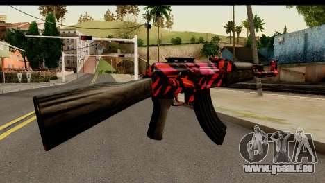 Red Tiger AK47 pour GTA San Andreas deuxième écran