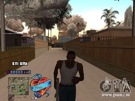 C-PALETTE de Cœur pour GTA San Andreas cinquième écran