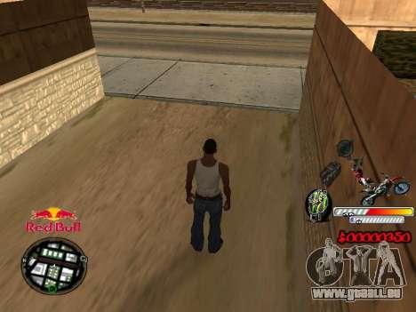 С-HUD RedBull pour GTA San Andreas deuxième écran