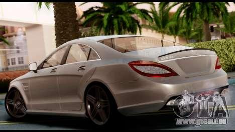 Mercedes-Benz CLS 63 AMG 2010 pour GTA San Andreas laissé vue