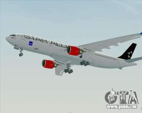 Airbus A330-300 SAS Star Alliance Livery für GTA San Andreas Rückansicht