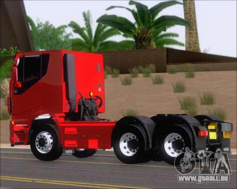 Iveco Stralis HiWay 6x4 pour GTA San Andreas sur la vue arrière gauche