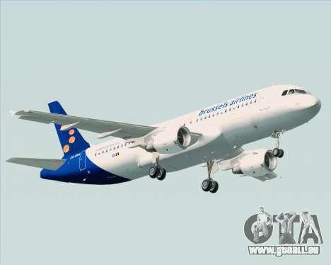 Airbus A320-200 Brussels Airlines pour GTA San Andreas vue arrière