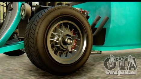 GTA 5 Hotknife GT pour GTA San Andreas sur la vue arrière gauche