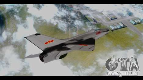 MIG-21 China Air Force für GTA San Andreas linke Ansicht