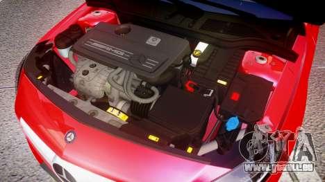 Mersedes-Benz A45 AMG pour GTA 4 est une vue de l'intérieur