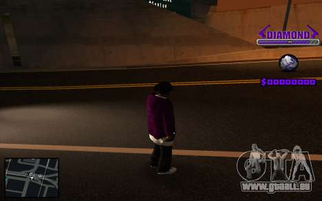 C-HUD Diamond Gangster pour GTA San Andreas quatrième écran