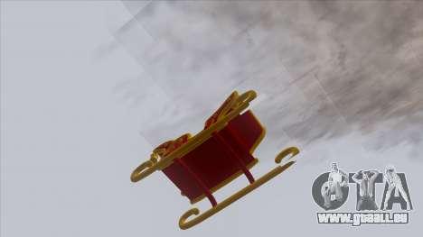 Santa Claus Sleigh für GTA San Andreas zurück linke Ansicht