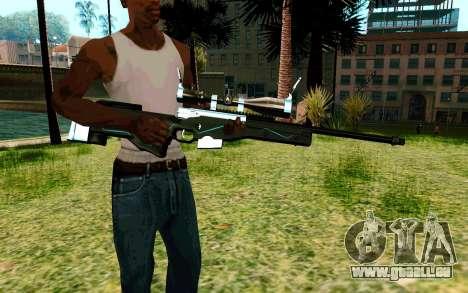 Blue Line Sniper pour GTA San Andreas deuxième écran