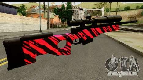 Red Tiger Sniper Rifle pour GTA San Andreas deuxième écran