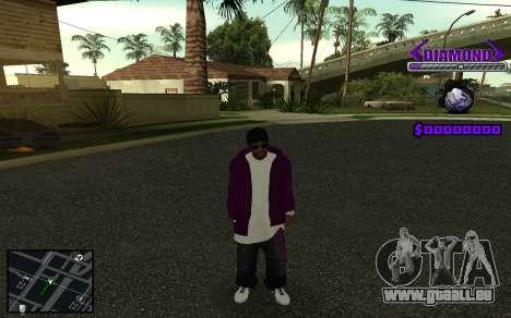 C-HUD Diamond Gangster pour GTA San Andreas huitième écran