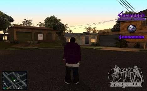 C-HUD Diamond Gangster pour GTA San Andreas sixième écran
