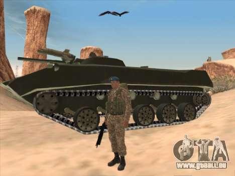 Grenadier des troupes aéroportées de la Fédérati pour GTA San Andreas troisième écran