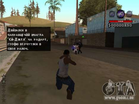 C-HUD by Granto pour GTA San Andreas deuxième écran