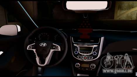 Hyundai Accent Blue für GTA San Andreas zurück linke Ansicht