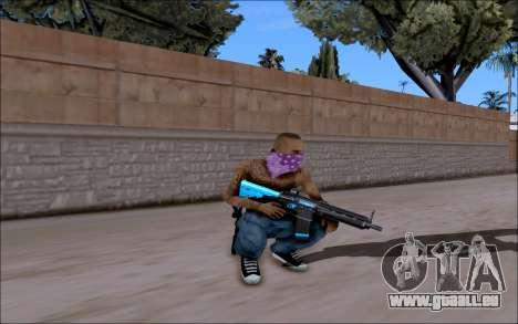 Blueline Gun Pack pour GTA San Andreas quatrième écran