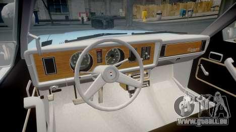 Ford Fairmont 1978 Police v1.1 pour GTA 4 Vue arrière