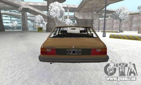 Renault 18 pour GTA San Andreas vue arrière