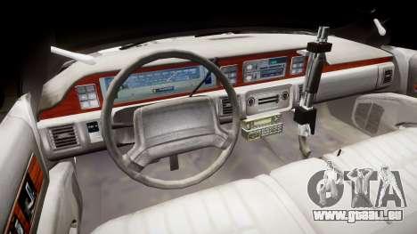 Chevrolet Caprice 1990 LCPD [ELS] Patrol pour GTA 4 Vue arrière