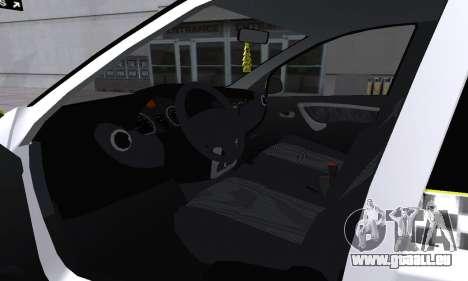Dacia Logan Taxi für GTA San Andreas Motor