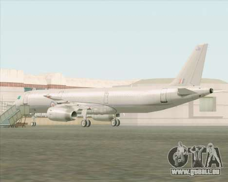 Airbus A321-200 Royal New Zealand Air Force für GTA San Andreas zurück linke Ansicht