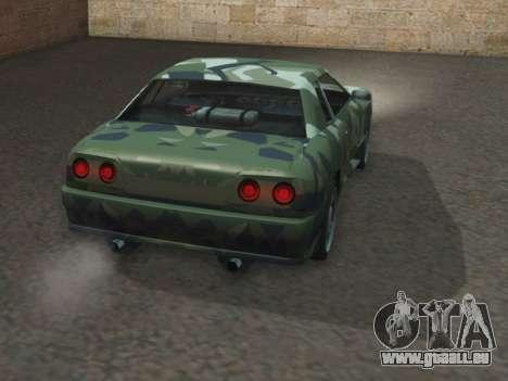 Elegy GTR pour GTA San Andreas sur la vue arrière gauche