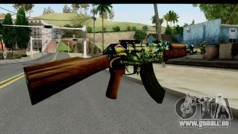 Grafiti AK47 für GTA San Andreas zweiten Screenshot