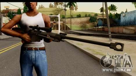 Sinons PGM Ultima Ratio Hecate II pour GTA San Andreas troisième écran