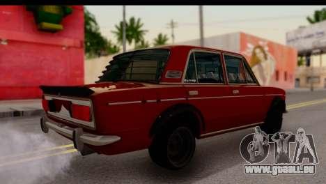 VAZ 2106 BQ pour GTA San Andreas sur la vue arrière gauche
