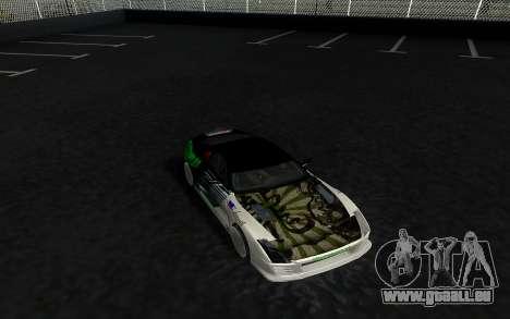 Toyota Supra VCDT pour GTA San Andreas sur la vue arrière gauche