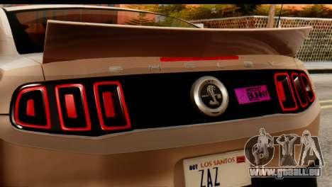 Ford Shelby GT500 RocketBunny für GTA San Andreas zurück linke Ansicht
