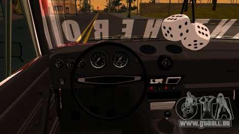 VAZ 2106 BQ pour GTA San Andreas vue arrière