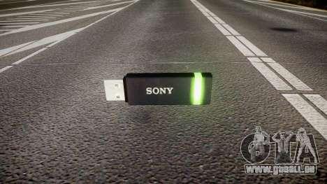 Lecteur flash USB Sony vert pour GTA 4