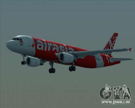 Airbus A320-200 Indonesia AirAsia pour GTA San Andreas vue de dessus