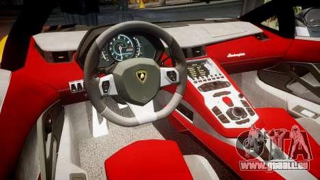 Lamborghini Aventador 2012 [EPM] Hankook Orange pour GTA 4 est une vue de l'intérieur