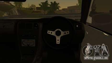 Toyota Mark 2 Sport pour GTA San Andreas sur la vue arrière gauche