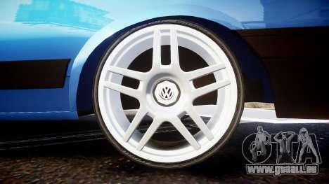 Volkswagen Voyage 1990 pour GTA 4 Vue arrière