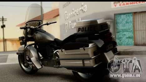 Police Bike GTA 5 pour GTA San Andreas laissé vue