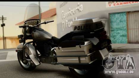 Police Bike GTA 5 für GTA San Andreas linke Ansicht