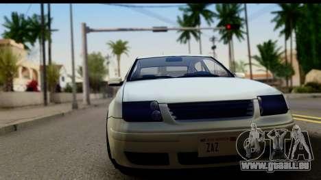 Volkwagen Jetta Mk4 für GTA San Andreas zurück linke Ansicht