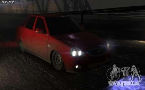 Lada 2170 Priora für GTA 4 Innenansicht