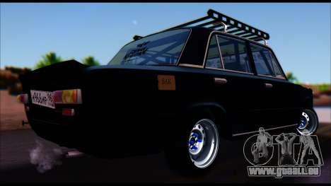 VAZ 2101 COLOMBIE-BRITANNIQUE pour GTA San Andreas sur la vue arrière gauche