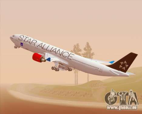 Airbus A330-300 SAS Star Alliance Livery für GTA San Andreas Innenansicht