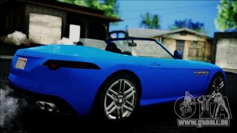 Benefactor Surano IVF pour GTA San Andreas sur la vue arrière gauche