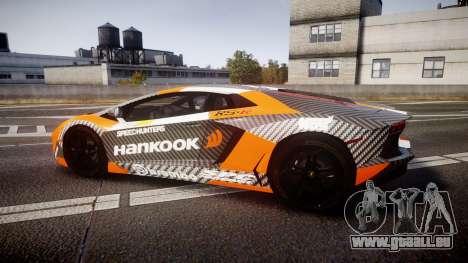 Lamborghini Aventador 2012 [EPM] Hankook Orange pour GTA 4 est une gauche