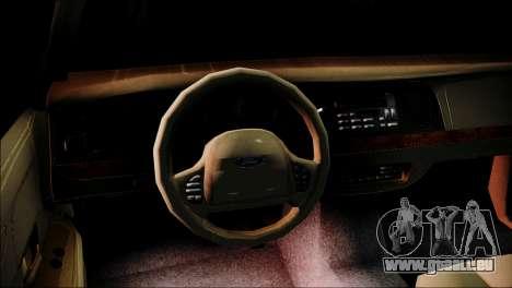 Ford Crown Victoria Stance Nation pour GTA San Andreas sur la vue arrière gauche