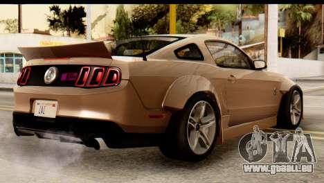Ford Shelby GT500 RocketBunny pour GTA San Andreas laissé vue