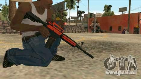 Orange M4A1 für GTA San Andreas sechsten Screenshot