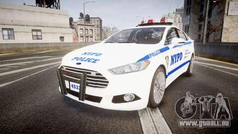 Ford Fusion 2014 NYPD [ELS] für GTA 4